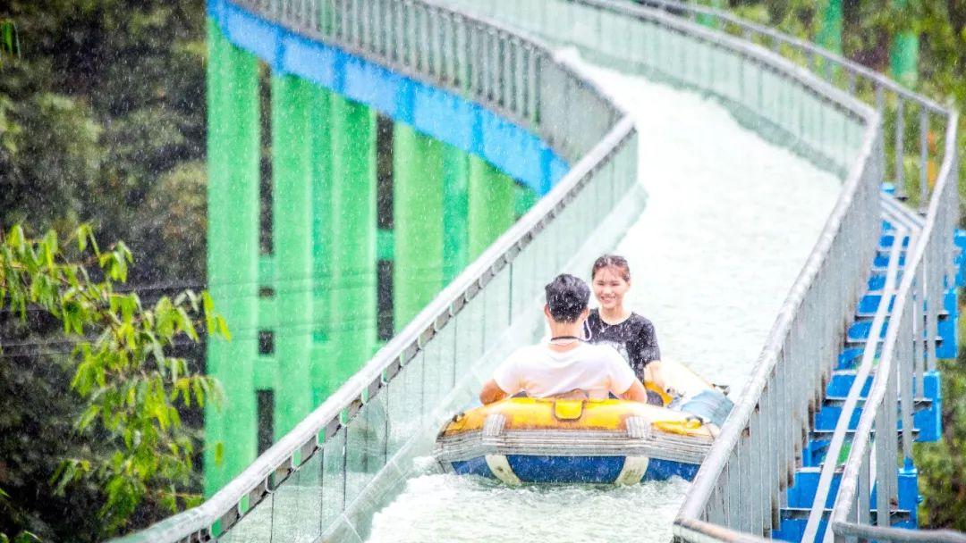 清远清泉湾竹林急速漂、高空玻璃漂、水城、CS野战两日游